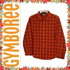 Gymboree Boys Plaid Stripe Long Sleeve Shirt